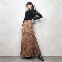 ModelL vintage  metal button long  skirt