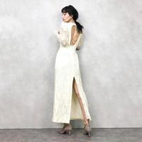 VINTAGE pearl wedding dress-719-11
