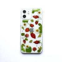 押し花ケース iPhone12/12pro ワイルドストロベリー