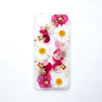 押し花ケース iPhone6/6s/7/8/SE2 ビオラ-ピンク