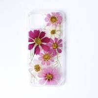 押し花ケース iPhone11 pro コスモス