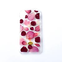 押し花ケース iPhoneX/Xs ROSE