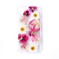 押し花ケース iPhoneXR ビオラ-ピンク