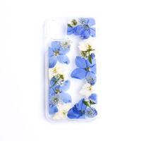 押し花ケース iPhone11/XR デルフィニウム