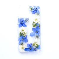 押し花ケース iPhone12/12pro デルフィニウム