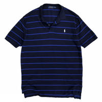 Polo by Ralph Lauren / Border Polo Shirt / Navy × Blue / Used
