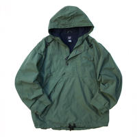 90s GAP / Fleece Lined Nylon Anorak Parka / Green / Used