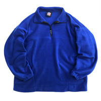 Made in USA / Half Zip Fleece Pullover / Blue / New