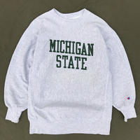 """Made in USA / 90s Champion / Reverse Weave Sweat """"MICHIGAN STATE"""" / Heather Gray / Used"""