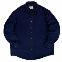 90's Eddie Bauer / Corduroy B.D.Shirt / Navy XL / Used