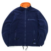 Made in USA / 90s L.L.Bean / Full Zip Polartec Fleece Jacket / Navy / Used