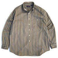 80~90s Striped B.D.Shirt / Brown / Used