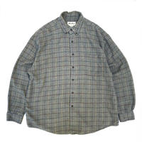 90s Eddie Bauer / Cotton B.D Check Shirt / Grey Check / Used