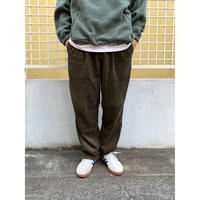 DOCKERS / 2 Tuck Corduroy Pants /  Olive / Used