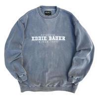 00's Eddie Bauer / Embroidered Logo Sweat / Grey L / Used