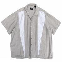 Designed Open Collar Shirt / Beige / Used