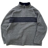 OLD GAP / Half Zip Fleece Jacket / Grey / Used