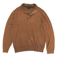 Banana Republic  / Half Zip Knit Top  / Camel / Used