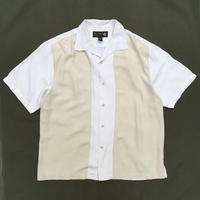 Natnst / S/S Open Collar Silk Shirt / Ivory / Used