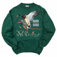 NWF / Duck Print Sweat / Forest / Used