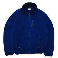 Made in USA / 90s L.L.Bean / Full Zip Fleece Jacket / Navy / Used