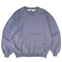 Made in USA / 90s Russell Authentic / Solid Sweat / Heather Grey / Used
