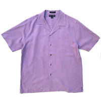 S/S Open Collar Silk Shirt / Purple / Used