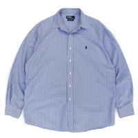 "Polo Ralph Lauren / Cotton B.D. Check Shirt ""LOWELLSPORT"" / White × Blue / Used"