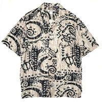 Deadstock / Made in USA / Hawaiian Shirt / Ivory