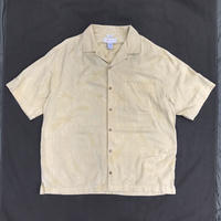 Silk Open Collar Shirt / Pale Yellow / Used