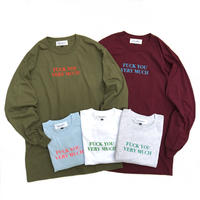 "Tokyo Gimmicks /""fuck you very much"" L/S Tee /  Olive , Burgundy , Lt Blue , White , Ash"