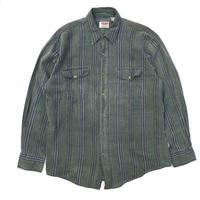 L/S Check B.D. Shirt / Green / Used