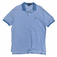 Polo by Ralph Lauren / Border Polo Shirt / Lt.Blue / Used