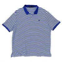 Polo Ralph Lauren / Border Polo Shirt / White × Blue / Used