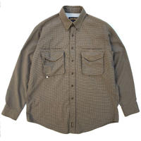 00s Woolrich / Fishing Check Shirt / Brown Check / Used