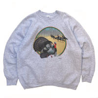 Made in USA / 90s Fruit of the loom / Turkey Printed Sweat / Ash / Used
