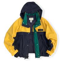 90's Eddie Bauer / Multi Color Full Zip Nylon Jacket XL / Used