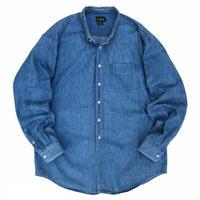 Made in USA / 90s J.CREW / Denim B.D. Shirt / Indigo / Used