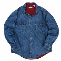 Made in USA / 80s L.L.Bean / Flannel Lined Denim Shirt / Indigo / Used