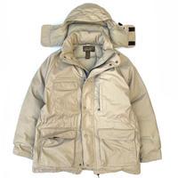 Made in USA / 80-90s Eddie Bauer / Goose Down Jacket / Beige / Used