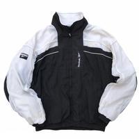 90s Reebok / Nylon Sport Jacket / White × Black / Used