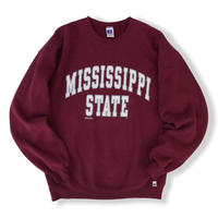90's Russell Athletic / College Logo Sweat / Burgundy L / Used