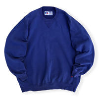 """Made in USA / 90's Russell Athletic / """"HIGH Cotton"""" Solid Sweat /  Blue XXL / Used"""