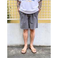 00's Eddie Bauer / seersucker Check 2tuck Shorts  / Navy×White / Used