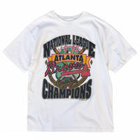 Made in USA / 90's MLB / National League Champion Tee / White / Used