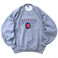 Made in USA / 90s Russell Authentic / CUBS Sweat / Grey / Used