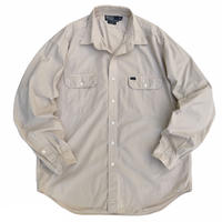 90's Polo Raph Lauren / Cotton G.I. Shirt / Beige / Used