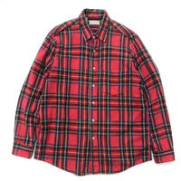 80's Made in USA / L.L.Bean / L/S Check Shirt / Red  / Used