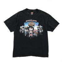 Made in USA / '00 Harley Davidson / LOONEY TUNES Tee / Black / Used