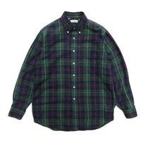 L.L.Bean / L/S B.D.Check Shirt /  Green  / Used